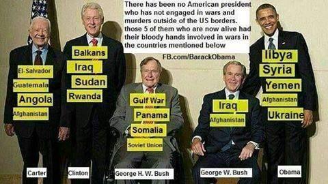 Amerikai elnökök és elnökségük idején megtámadt vagy fegyveresen befolyásolt országok