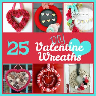 25 DIY Valentine's Day Wreaths from Six Sisters' Stuff | Make your home a little more festive with these Valentine's Day projects