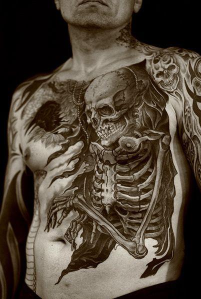Regino Gonzales = wicked everything = looove: Skull Tattoo, Skin Art, Body Art, Crazy Tattoo, A Tattoo, Paper Parties, Skeletons Tattoo, Tattoo Ink, Bodyart