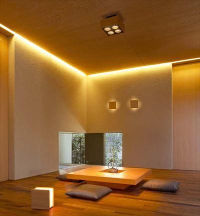 くつろげる部屋の照明