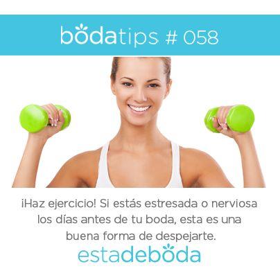 Haz ejercicio Bodatips > https://www.estadeboda.com
