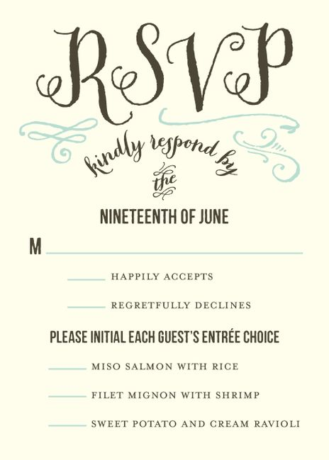21 best Wedding Response Cards images on Pinterest Wedding reply - wedding response postcards