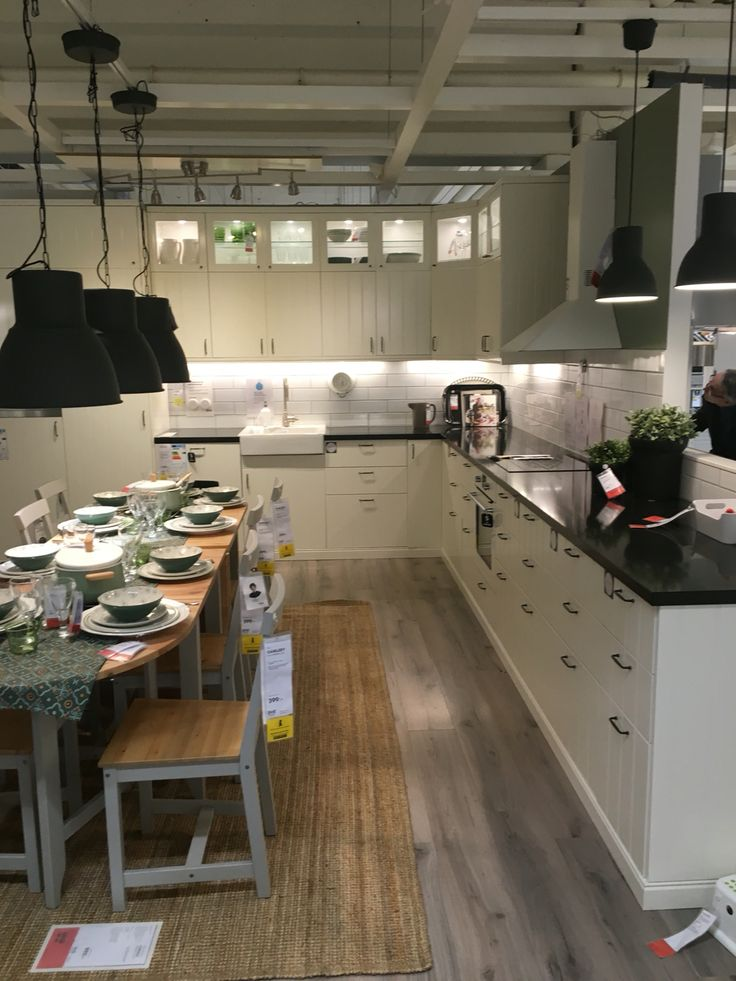 Ikea kitchen hittarp ikea inspiration pinterest k k ikea och inspiration - Deco land keuken ...