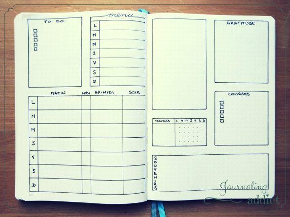 10 modèles de pages hebdomadaires pour votre bullet journal                                                                                                                                                                                 Plus