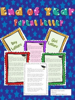 Classroom Freebies Too: End of Year Parent Letter FREEBIE