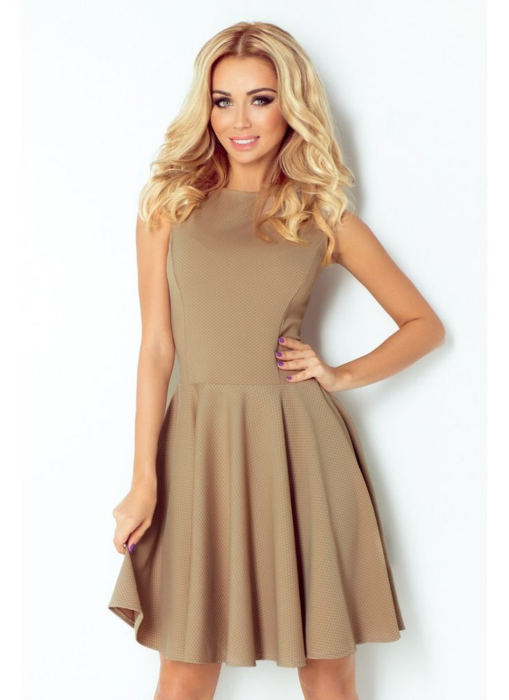 Beautiful party dress cappucino colour. Either stylish