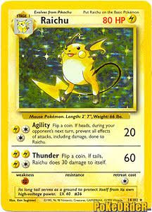 raichu pokemon card - Google Search