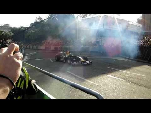 Red Bull Team F1 - Bogotá HD,  exhibición 360 grados David Coulthard