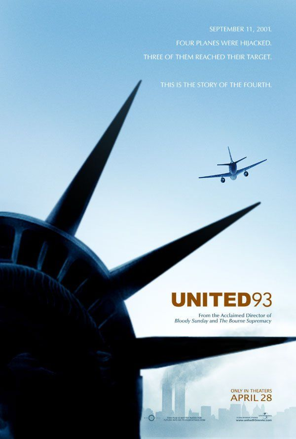 United 93 -- A real time account of the events on United Flight 93, one of the planes hijacked on 9/11 that crashed near Shanksville, Pennsylvania when passengers foiled the terrorist plot.