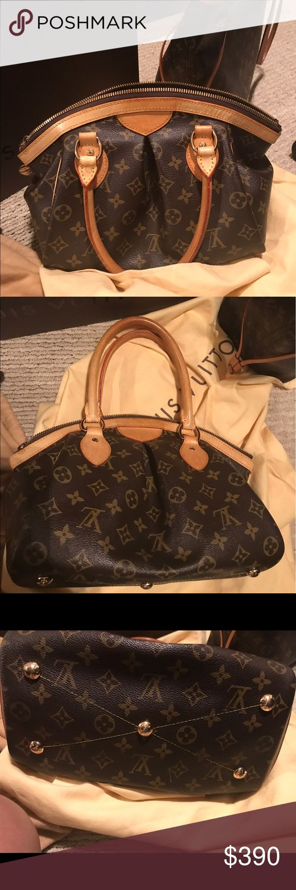 Louis Vuitton Tívoli PM Authentic this is one of my LVs I'm ready to part with. It's in great condition inside and out, piping in all corners is in tact. It has been used but well taken care of. Please use offer button, this is my first item I've listed on this app, I am not in a hurry to sell. Please submit reasonable offers thanks. Louis Vuitton Bags