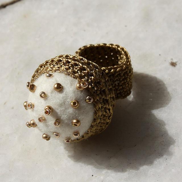 Felted Crochet Ring Inspiration  ❥ 4U // hf