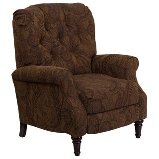 Shop for Traditional Tufted Tobacco Paisley Upholstered Hi-leg Recliner. Get free delivery at Overstock.com - Your Online Furniture Shop! Get 5% in rewards with Club O!