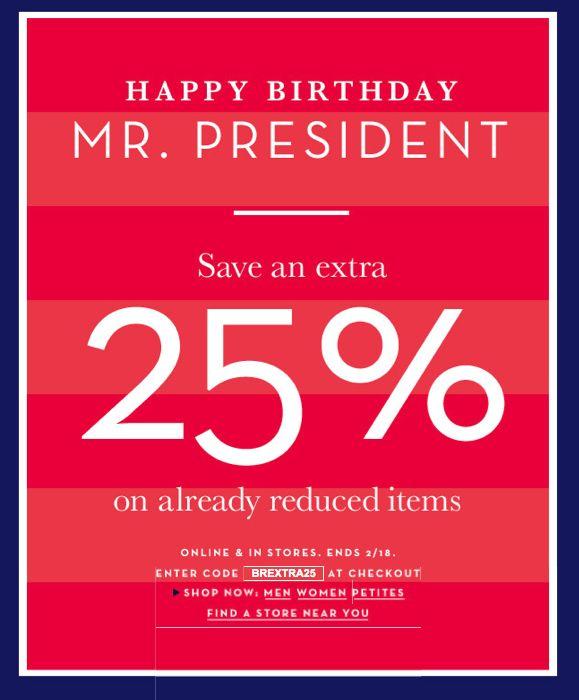 President's Day Sales!