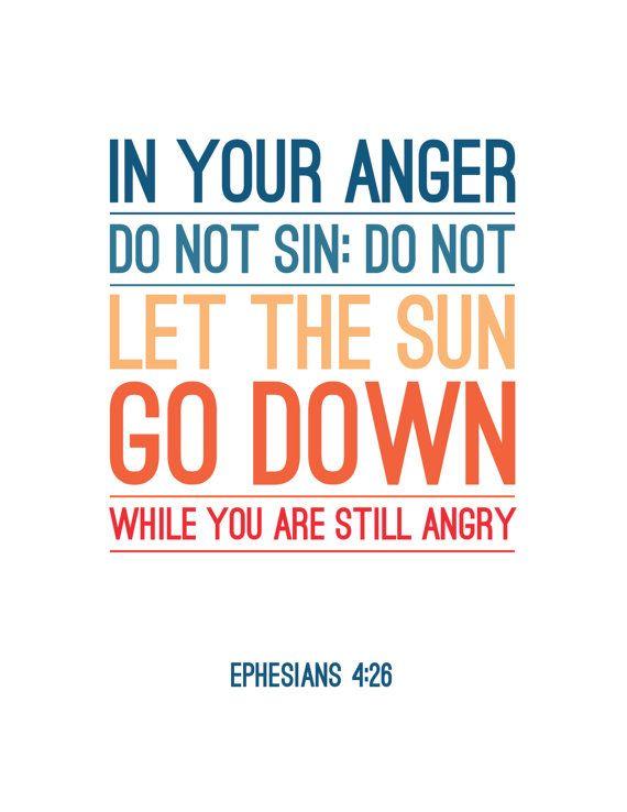 Ephesians 4:26 - Bible Verse Print