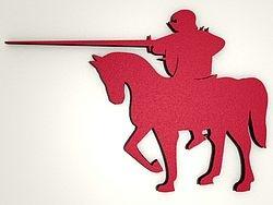 Great Ritter auf Pferd ein edles D Wandtattoo f r Mittelalterfans