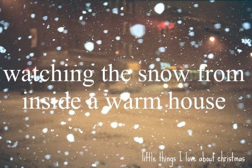 Things I Love About Winter : Watching The Snow From Inside A Warm House. #bigtangysmiles