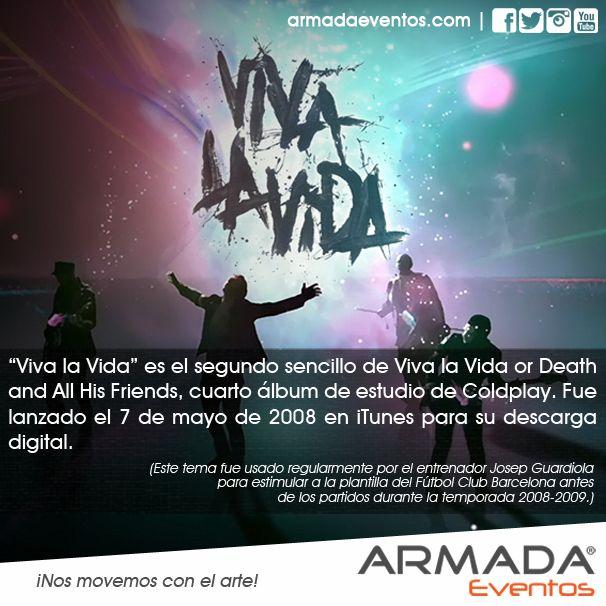 #VivaLaVida es el segundo sencillo de 'Viva la Vida or Death and All His Friends', cuarto álbum de estudio de #Coldplay. Fue lanzado el 7 de mayo de 2008 en iTunes para su descarga digital.