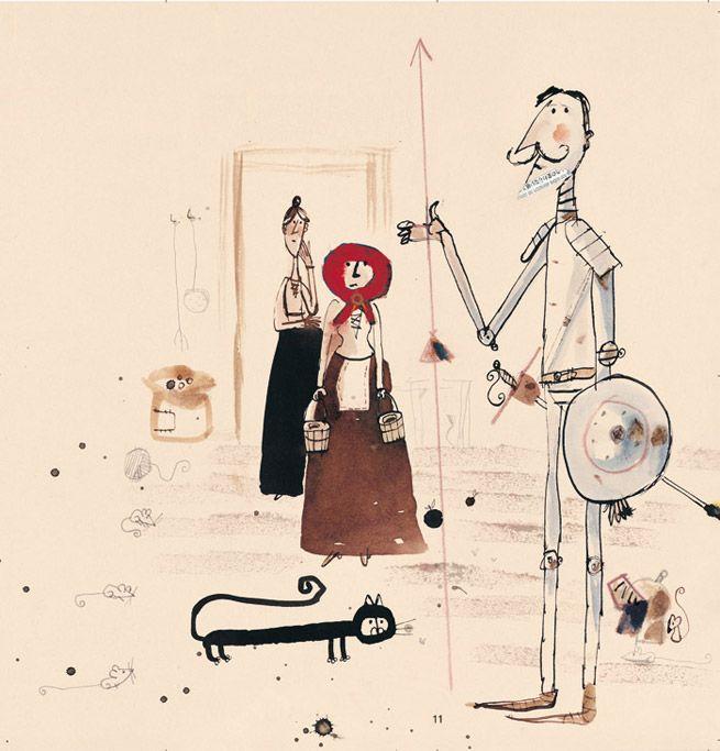 Javier Zabala - Don Quijote de la Mancha de Miguel de Cervantes. Adaptación de Carlos Reviejo. Ediciones SM, Madrid 2004.