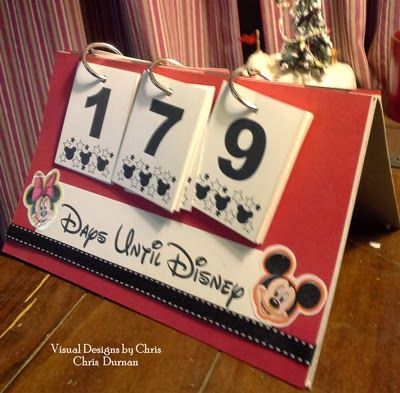 One our gifts for D was tickets to Disney. Here is a countdown calendar I made for his box. He had a map of Disney compliments of Aunt Be...