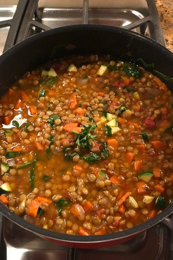Moroccan Lentil Soup With Veggies Recipe Moroccan Lentil Soup Recipes Healthy Recipes
