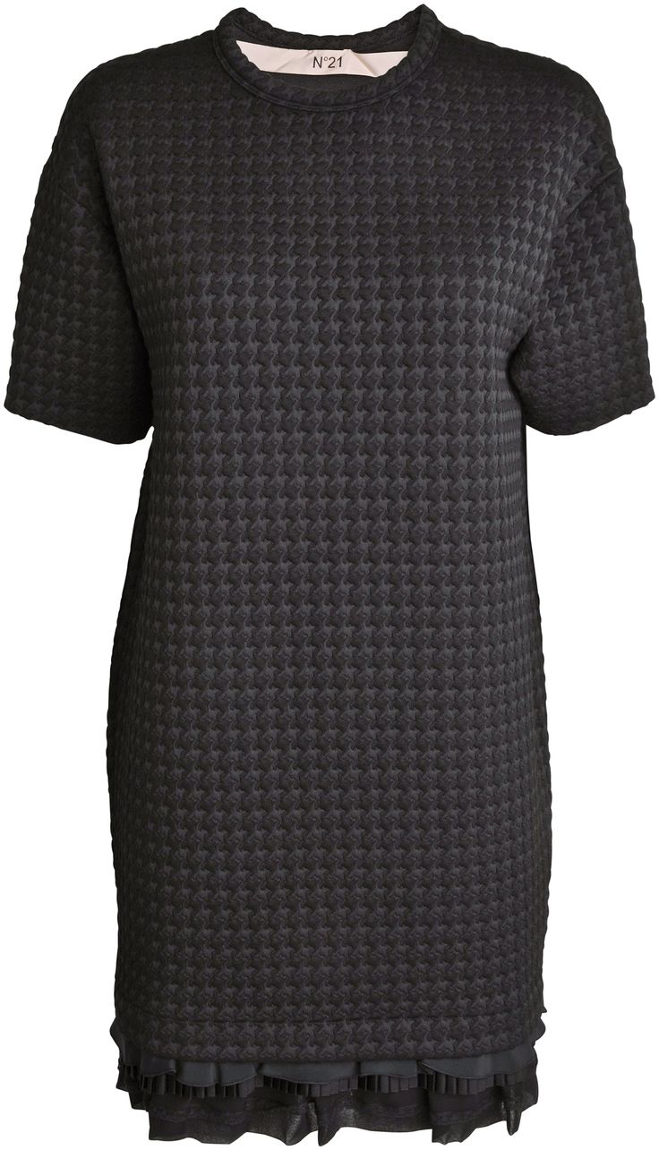 No. 21 - Vaflet kortærmet kjole i lag - YouHeShe
