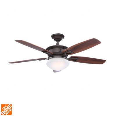 Hampton Bay Lazerro II 52 in. Oil-Rubbed Bronze Ceiling Fan-AL968-ORB - The Home Depot