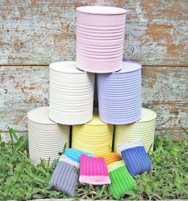 DIY Crazy cans tossing game with beanbags // Színes vásári dobójáték konzervdobozokból - újrahasznosítás // Mindy - craft tutorial collection // #crafts #DIY #craftTutorial #tutorial #UpcyclingCraft  #TinCanCraft #Upcycling #RecyclingCraft