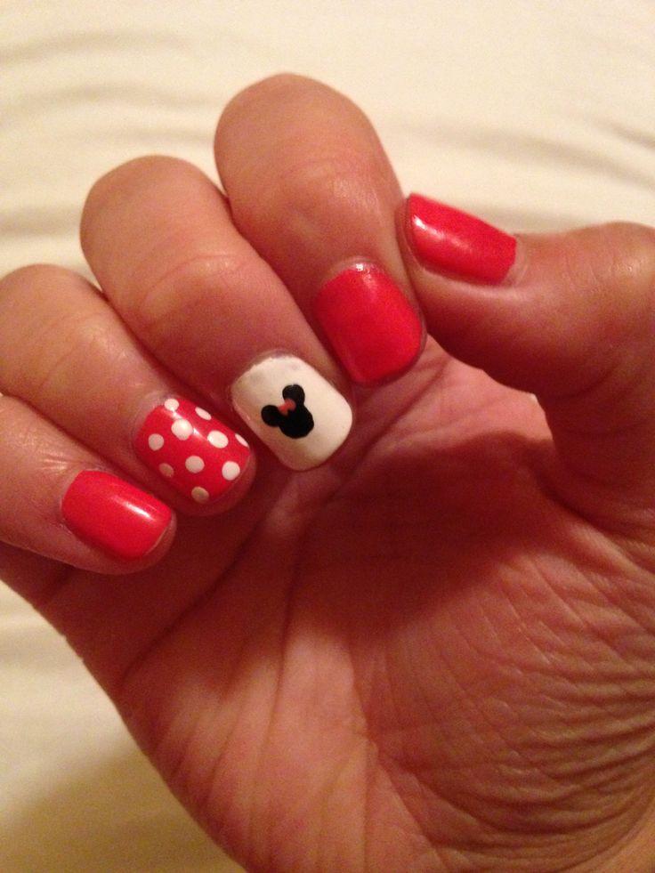 102 mejores imágenes de Minnie Mouse nails en Pinterest | Uñas ...