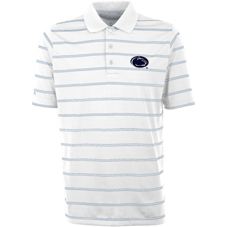 Antigua Men's Penn State Nittany Deluxe Performance White Polo, Size: Medium, Team