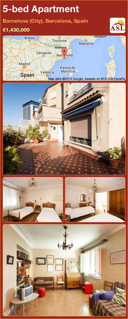 5-bed Apartment in Barcelona (City), Barcelona, Spain ►€1,430,000 #PropertyForSaleInSpain
