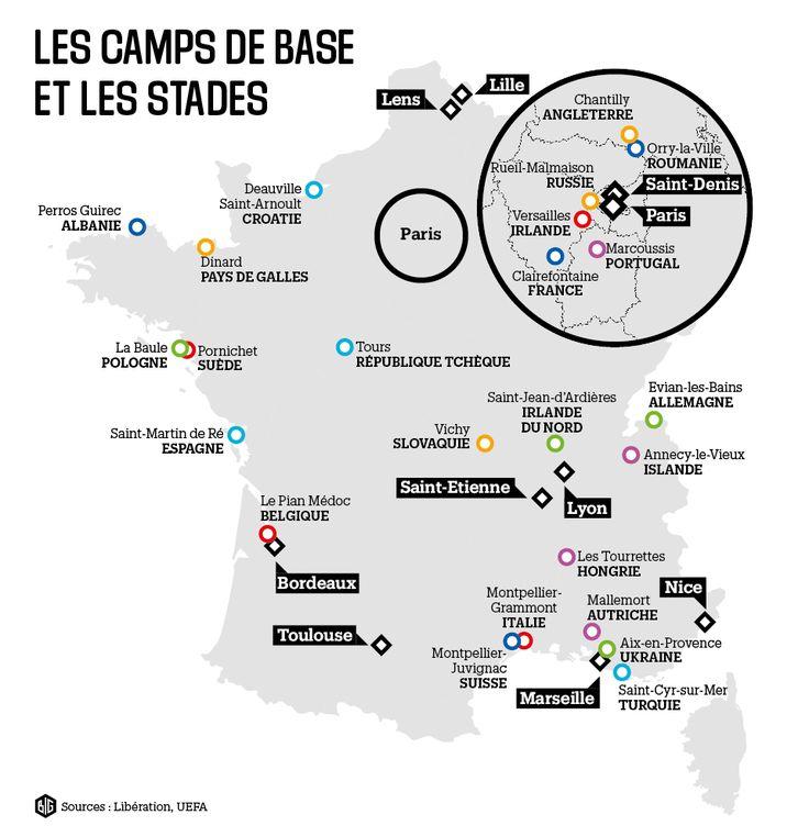 Euro 2016 : les camps de base et les stades