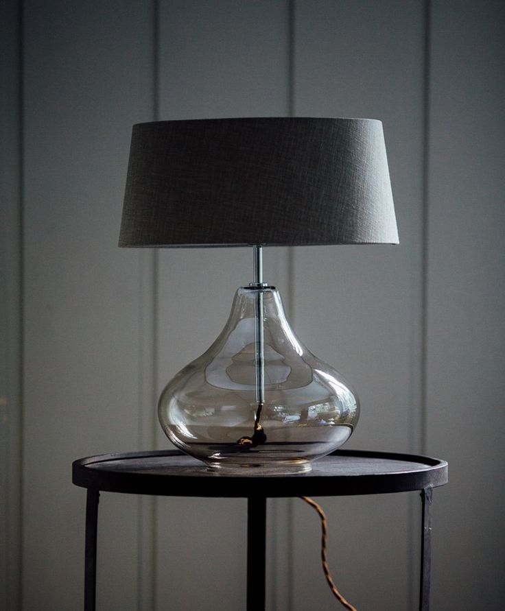 Pia | Smoked glass table Lamp | Olive & the Fox
