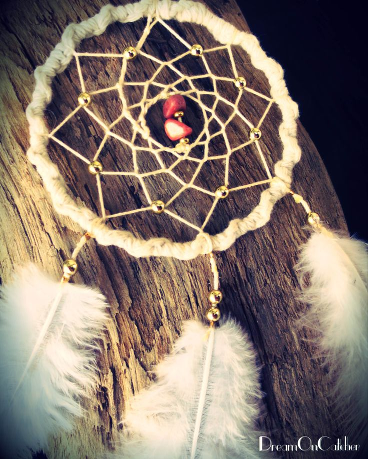 It's coming soon on Etsy!  White DreamCatcher with white feather and Pink stones. dreamoncatcher.nzm@gmail.com