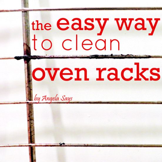 An easy and inexpensive way to #clean oven racks.