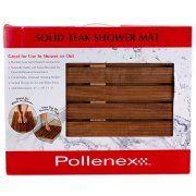 "Conair Pollenex Dpshmat Teak Shower Mat - Bathroom - 21"" Length X 14"" Width - Wood (ptm1sr) Image 2 of 3"