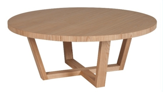 Round loop leg coffee table ( shown in Natural ) 100cm diam x 40cm high $895