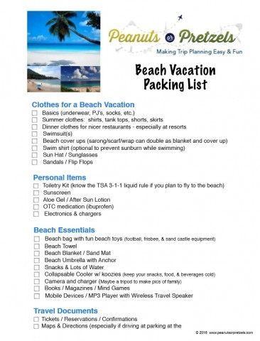 Best 25 Beach Vacation Packing List Ideas On Pinterest