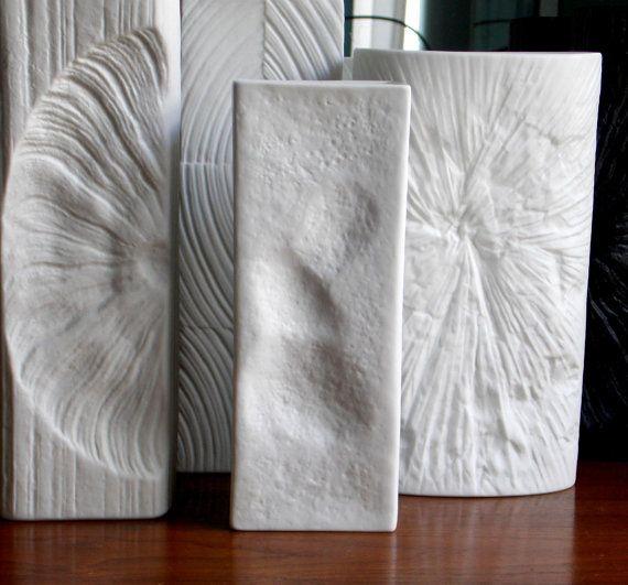 rosenthal studio line white matte porcelain vase designed by martin