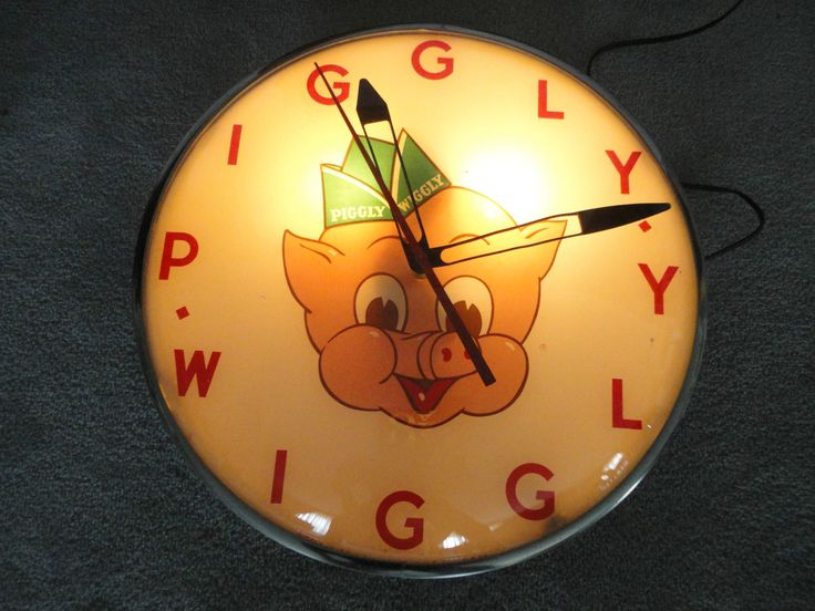 Piggly Wiggly Antique Clocks would look cute in someone's kitchen!
