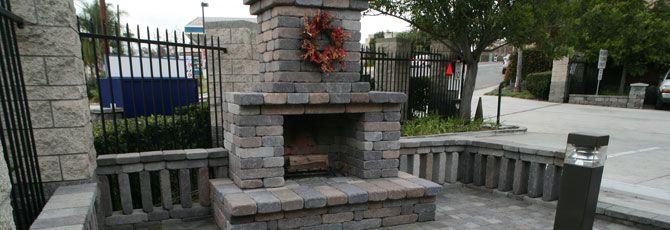 Semplice Outdoor Fireplace Kit