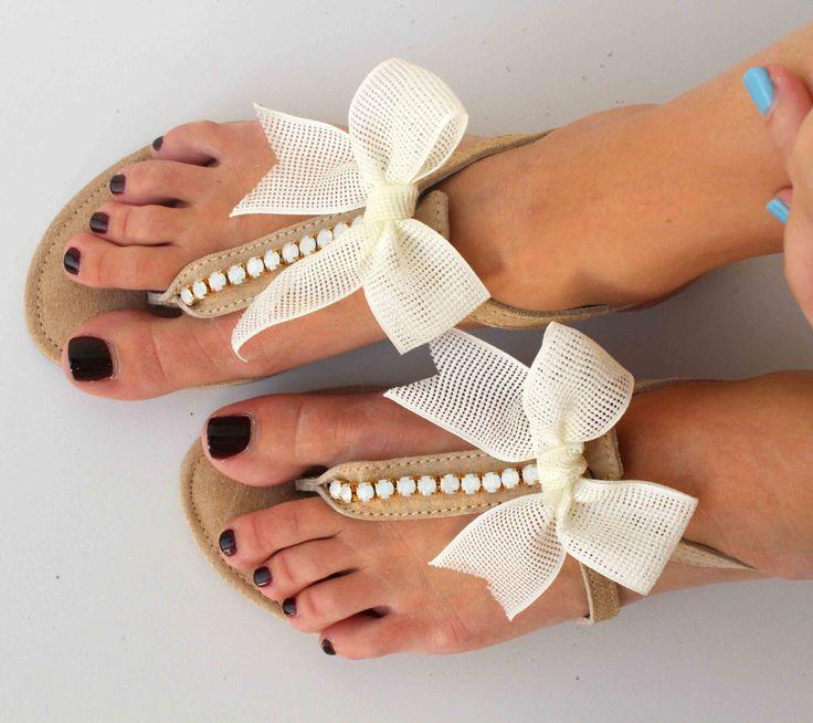 Leather Sandals - Wedding Sandals - Bridesmaid Sandals - Wedding Gift - Swarovski Rhinestones Sandals by lizaslittlethings on Etsy https://www.etsy.com/listing/152919911/leather-sandals-wedding-sandals