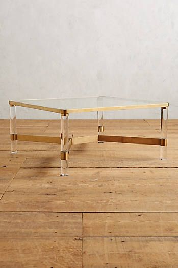 Oscarine Lucite Coffee Table, Square