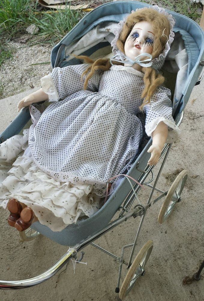 "24""+antique+Haunted+house+prop+doll+halloween+creepy+horror+zombie+baby+vtg++"