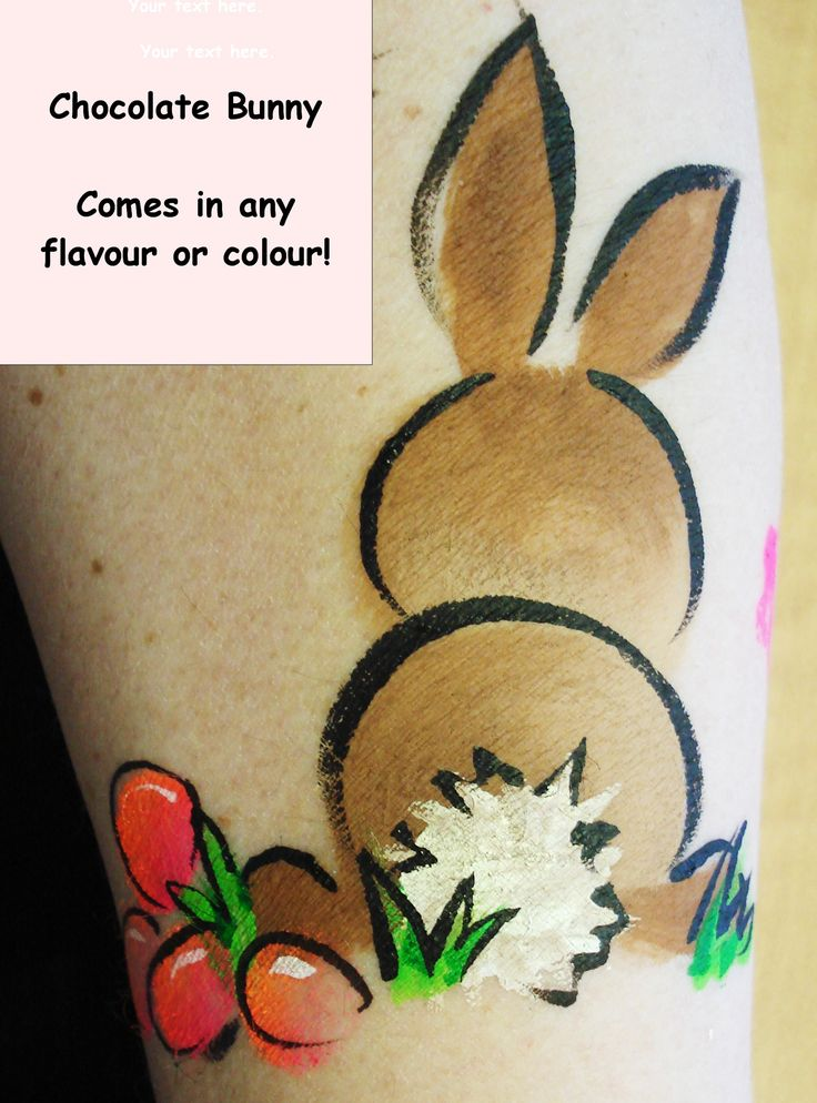 Brown Bunny Easy and fun body painting DIY and many ideas. Check my board for other ideas for this Easter or other holidays