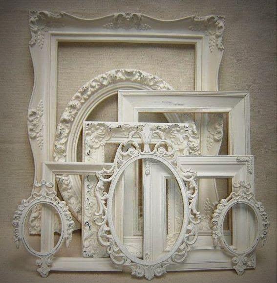 Boiserie c mandiamo le cornici in bianco diy craft for Cornici per quadri shabby chic