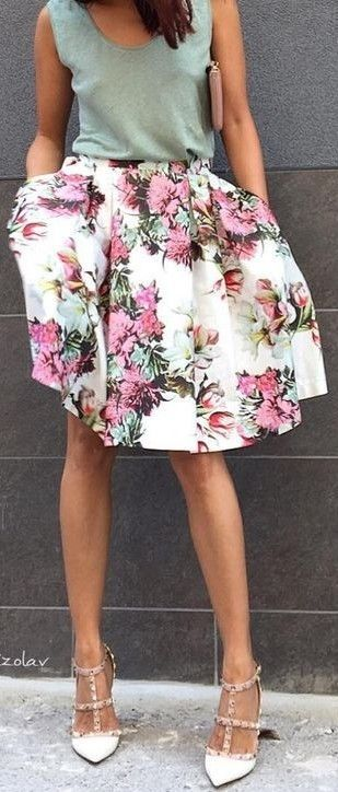 #summer #hot #weather #outfits |  Green + Floral
