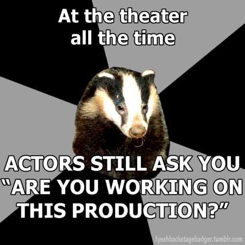 Yes! Seriously. I know ALL your names. Creepy but true. Into the Woods was a crazy time. That's why I love theatre!