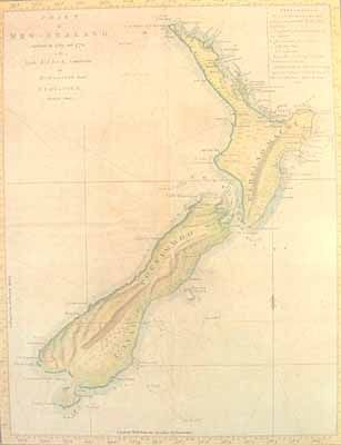 Print of the 1770 Chart of New Zealand by Captain James Cook on sale at New Zealand Fine Prints