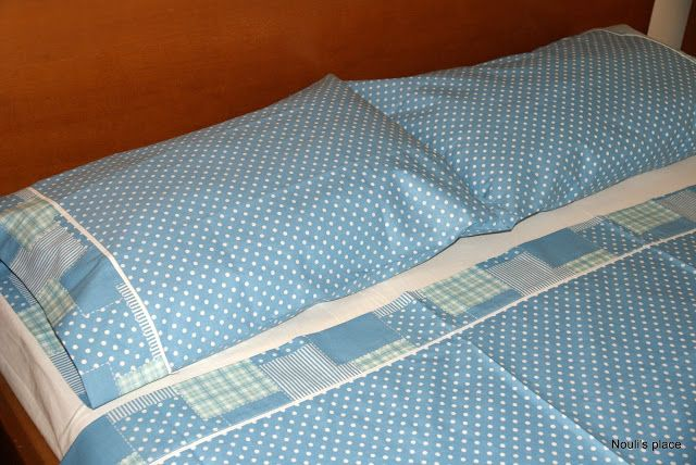 Sewing bed linens  -Nouli's Place-
