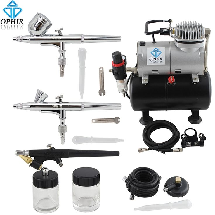 115.19$  Watch here - http://aliiuy.worldwells.pw/go.php?t=2006013386 - OPHIR 3 Airbrush Guns Dual Action&Single Action Air Brush Compressor with Tank for Nail Art Temporary Tattoo_AC090+004A+071+073 115.19$